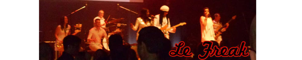 Funk Disco band & Tribute to CHIC and Nile Rodgers, site logo.