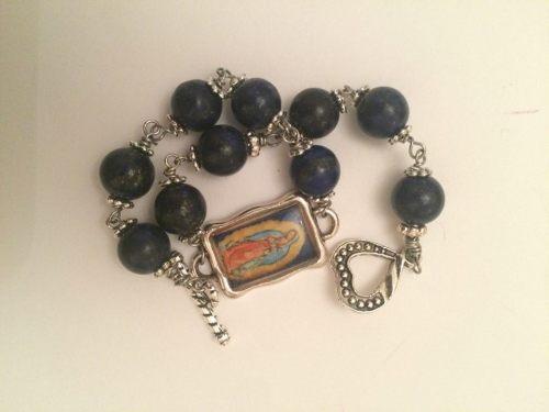Guadalupe Rosary Bracelet - Lapis Lazuli