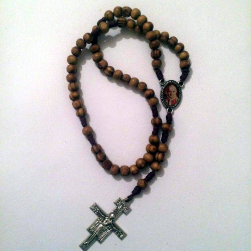 Knotted Cord Rosary Beads - Burlywood