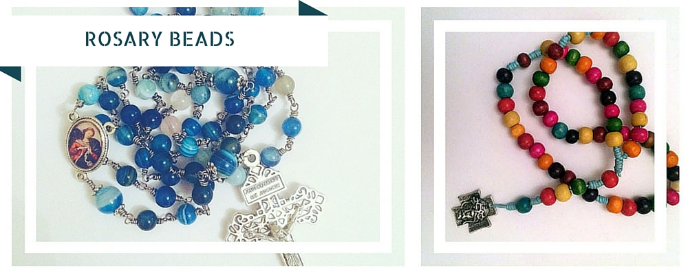 Rosary beads with Faith
