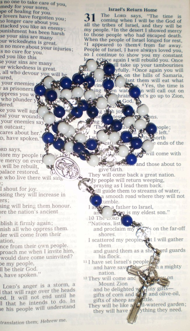 Bespoke Rosary Beads with Faith