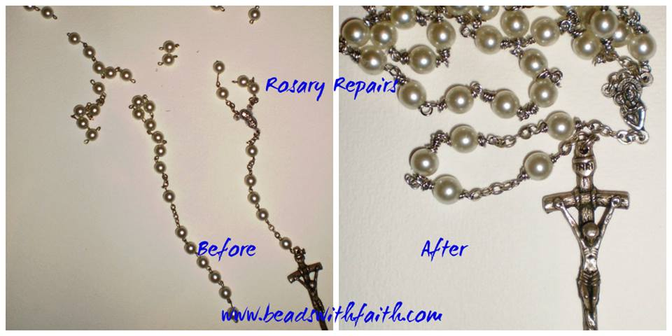 Rosary Repair Service Beads with Faith