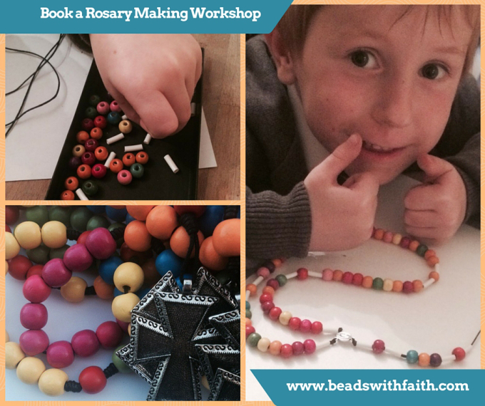 Book a Rosary Making Session for you Class
