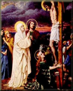 Mary Stands at the Foot of the Cross
