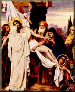 Mary receives her sons body