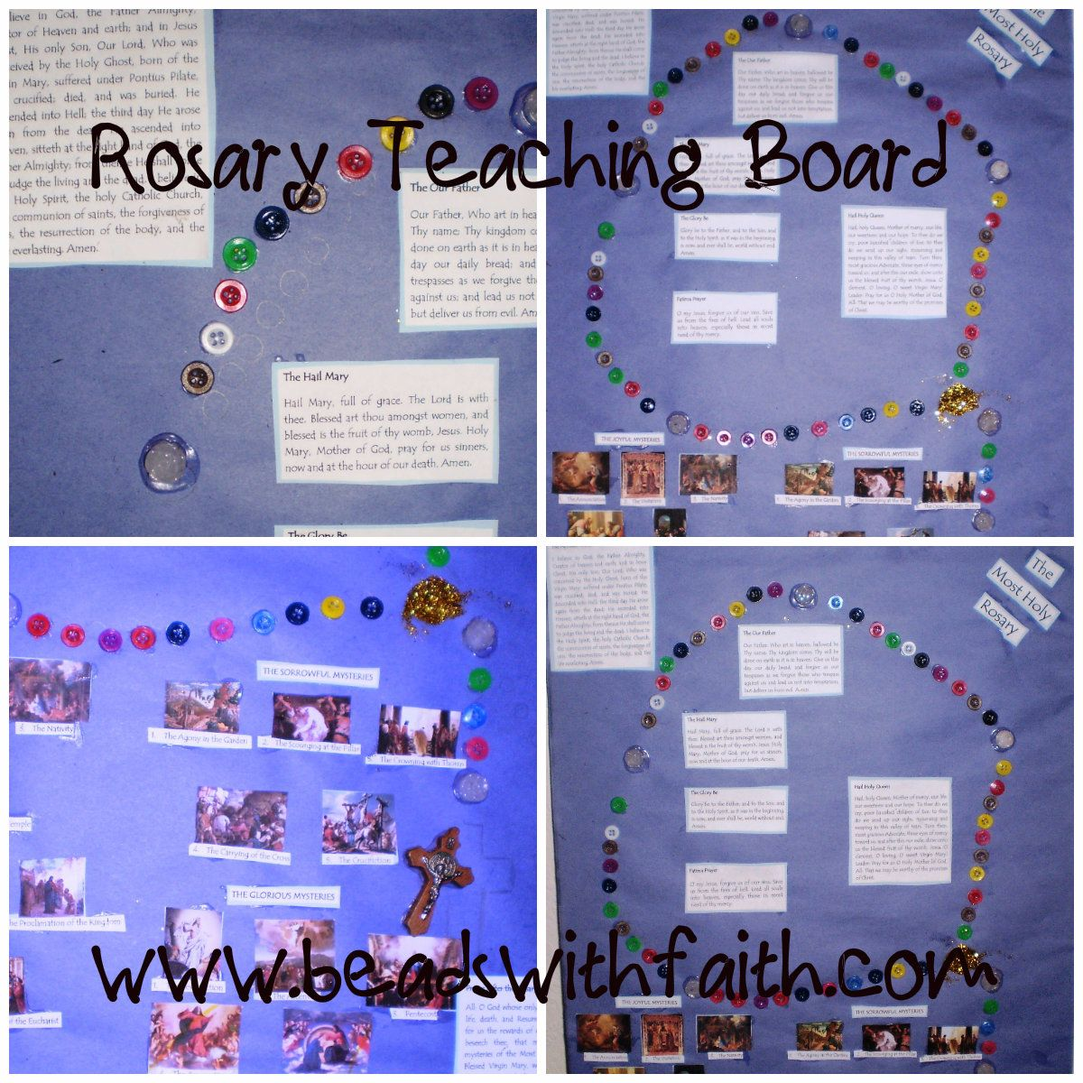 Rosary Teaching Board Beads with Faith