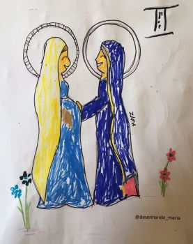 The Visitation Colouring