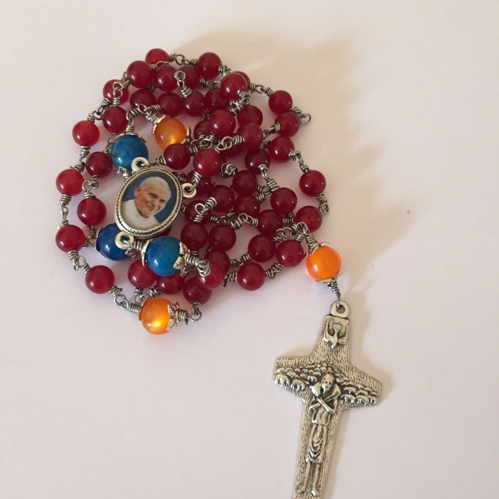 World Youth Day Rosary Beads with Faith