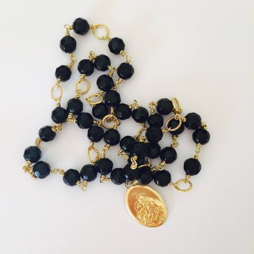 Chaplet of Saint Anthony - Faceted Glass - Black