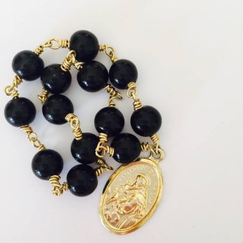 Chaplet of Saint Anthony - Black Onyx