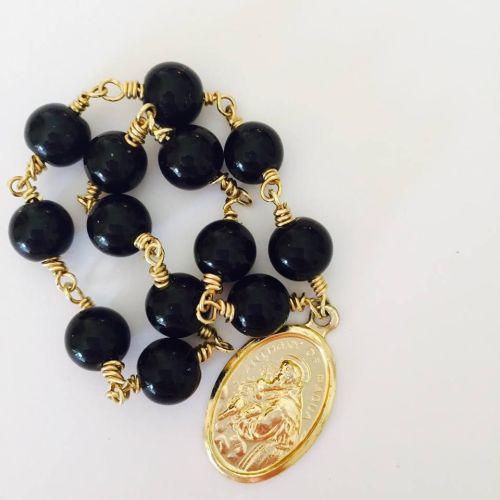 Chaplet of Saint Anthony - Black Onyx