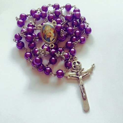 Our Lady of Walsingham - wire wrapped Rosary beads