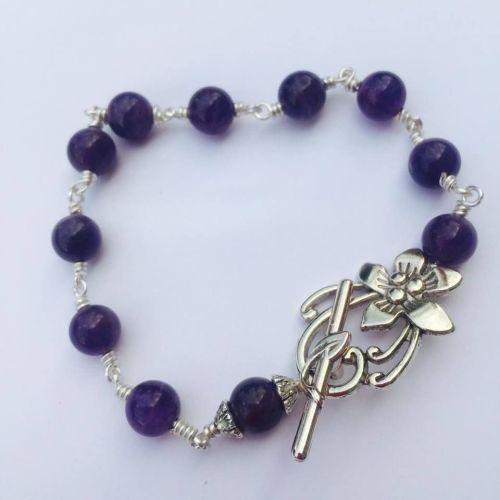 Amethyst Rosary Bracelet