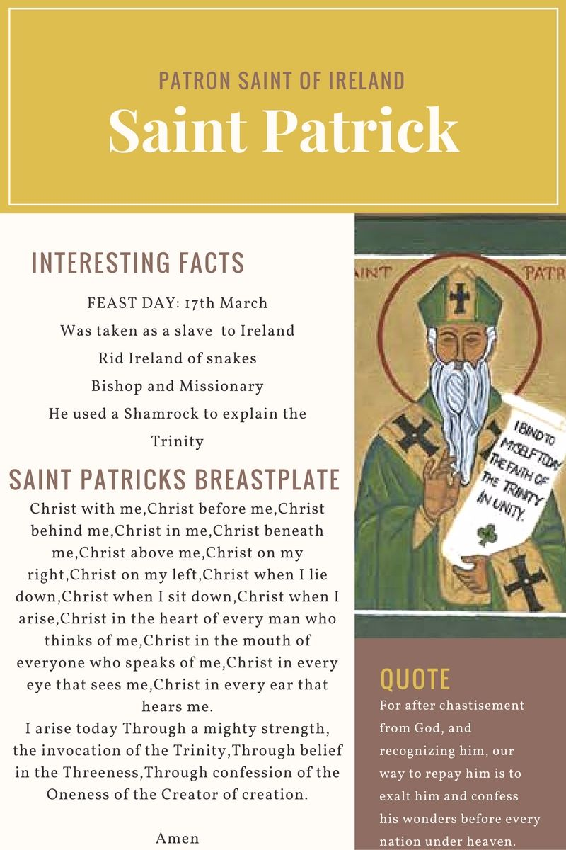 Saint Patrick Beads with Faith