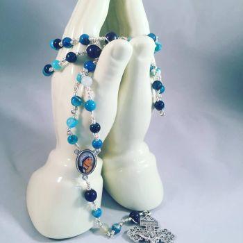 Bespoke Design Wire Wrap Rosary Beads handmade with prayer.