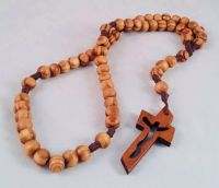Knotted Cord Rosary Beads - Burlywood Brown