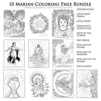 Delphina Rose Colouring Bundle