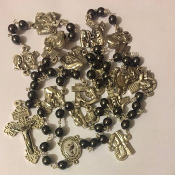 Chaplet of the Way of the Cross Hematite PREORDER