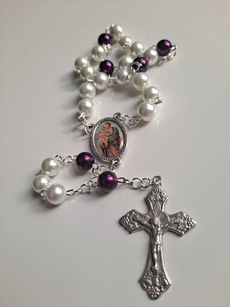 The Little Chaplet of Saint Joseph - Glass Pearl