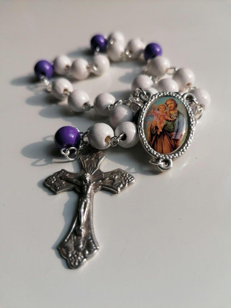 Little Chaplet of Saint Joseph - Wooden