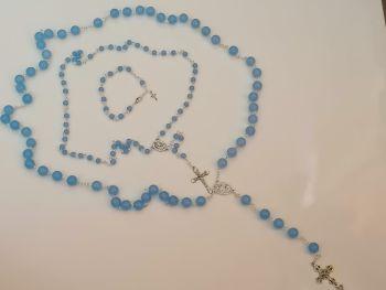 Rosary set - blue jade