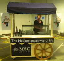 msc ice cream cart