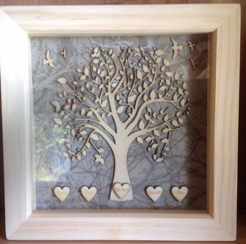 19x19cm Family Tree Box Frame