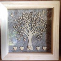 19x19cm Family Tree Box Frame