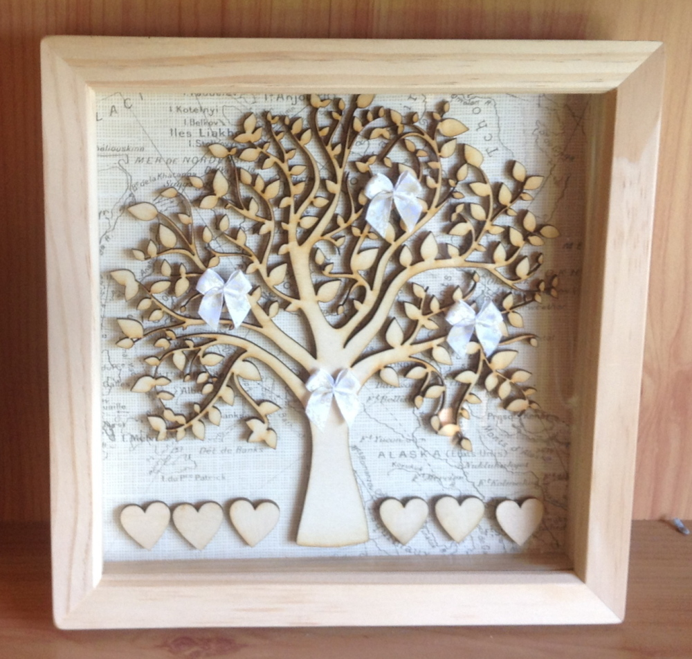 Family tree frame, Box Frame, Family tree picture, family tree, gift ...