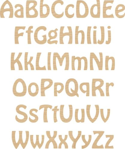 Ply letters wooden letters laser cut letters wood letters cut ply letter numbers hobo font spiritdancerdesigns Image collections