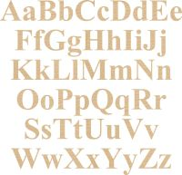 Ply Letter & Numbers Times New Roman Font
