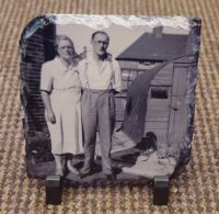 Square 14x14cm Photo Slate