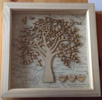 23x23cm Family Tree Box Frame