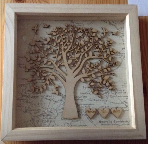 Wallverbs Family Tree Personalized Picture Frame Set: Family Tree Frame, Box Frame, Family Tree Picture, Family
