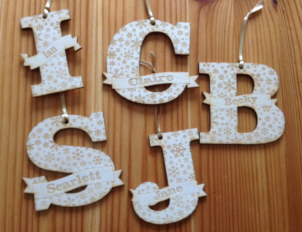 Personalised Alphabet Bauble