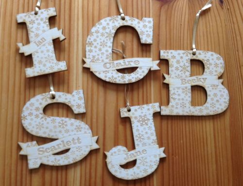 Personalised Alphabet Bauble