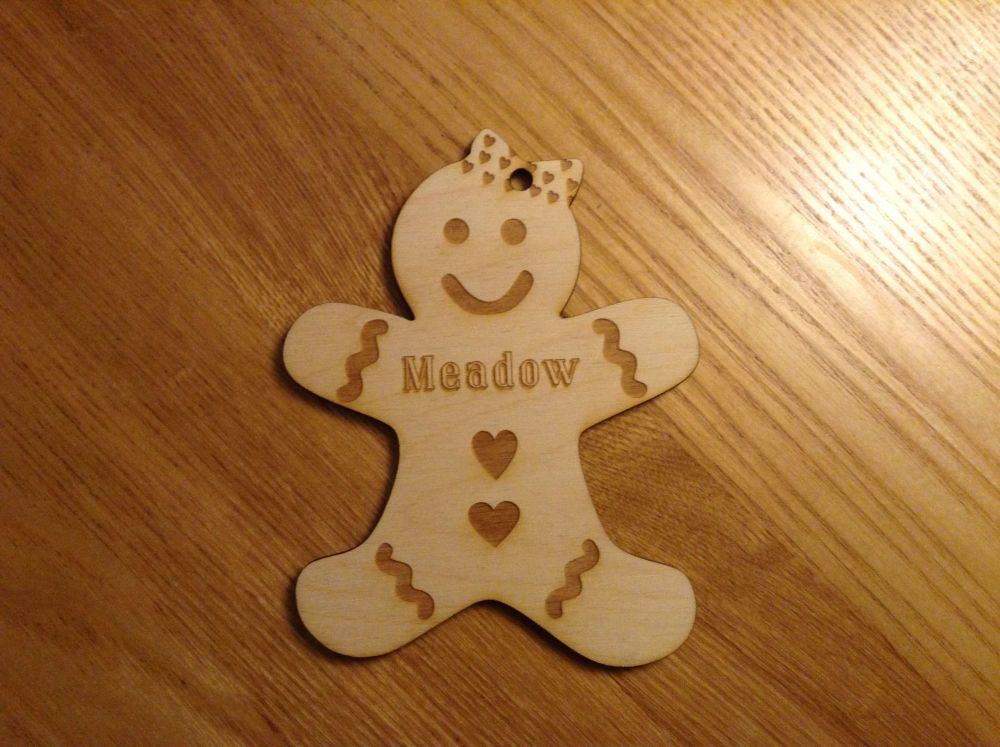 Personalised Gingerbread Man