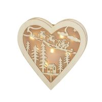 Wooden Light-up Heart