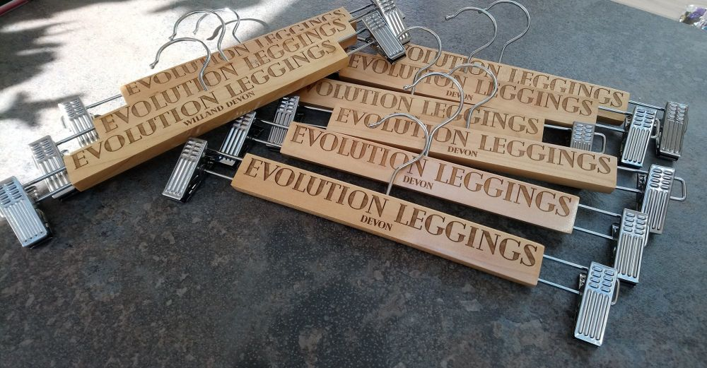 Engraved Skirt hangers