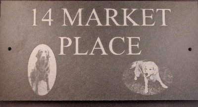 Slate House Sign 300x200mm with Photo
