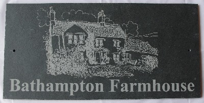 Slate House Sign 400x200mm with Photo
