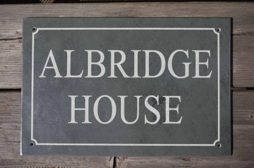 Slate House Sign 300x200mm