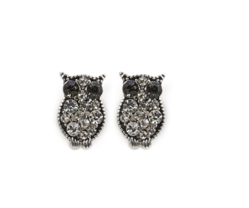 Diamante Owl Earrings