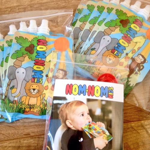 nom nom kids reusable food pouches baby weaning feeding - lylia rose family