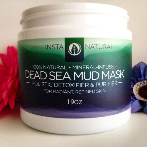 insta natural dead sea mud mask review mineral - lylia rose uk beauty blog