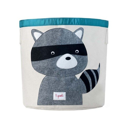 babyssimo racoon storage basket boys ideas solutions - lylia rose kids blog
