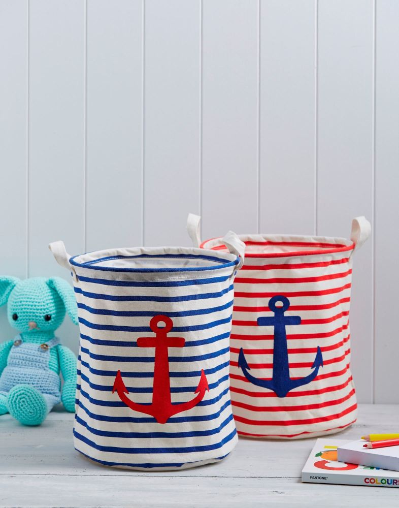 nortical red & blue striped storage tubs - £7.50 each lylia rose boys t