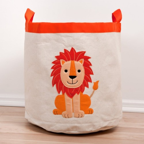 lion canvas storage hamper the fine cotton company boys toy box ideas blog