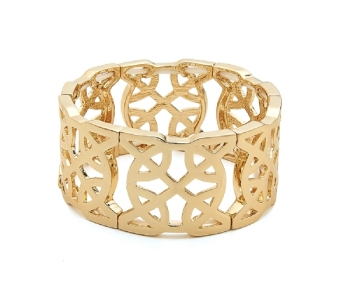 Cut Out Aztec Bracelet in Gold