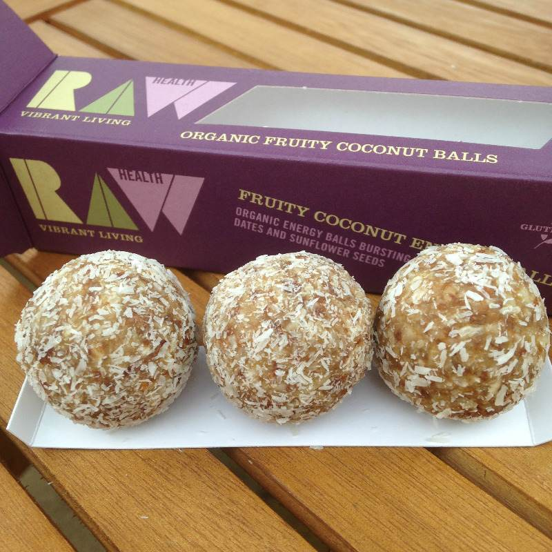 raw organic fruity coconut balls - energy healthy - lylia rose uk food blog